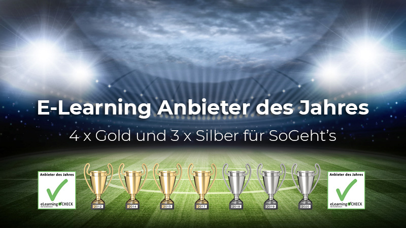 E-Learning Anbieter des Jahres - SoGeht's